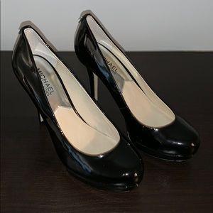 Michael Kors Shiny Black Heel (7.5)